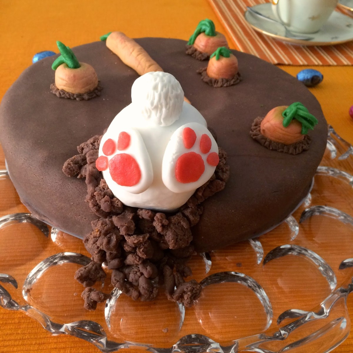 Motivtorte Mit Hase Von Hinten Zu Ostern