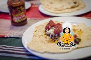 Selbstgemachte Weizentortillas für Tacos