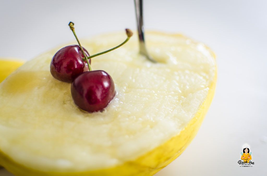 Frisch: Melonen Sorbet ohne Eismaschine