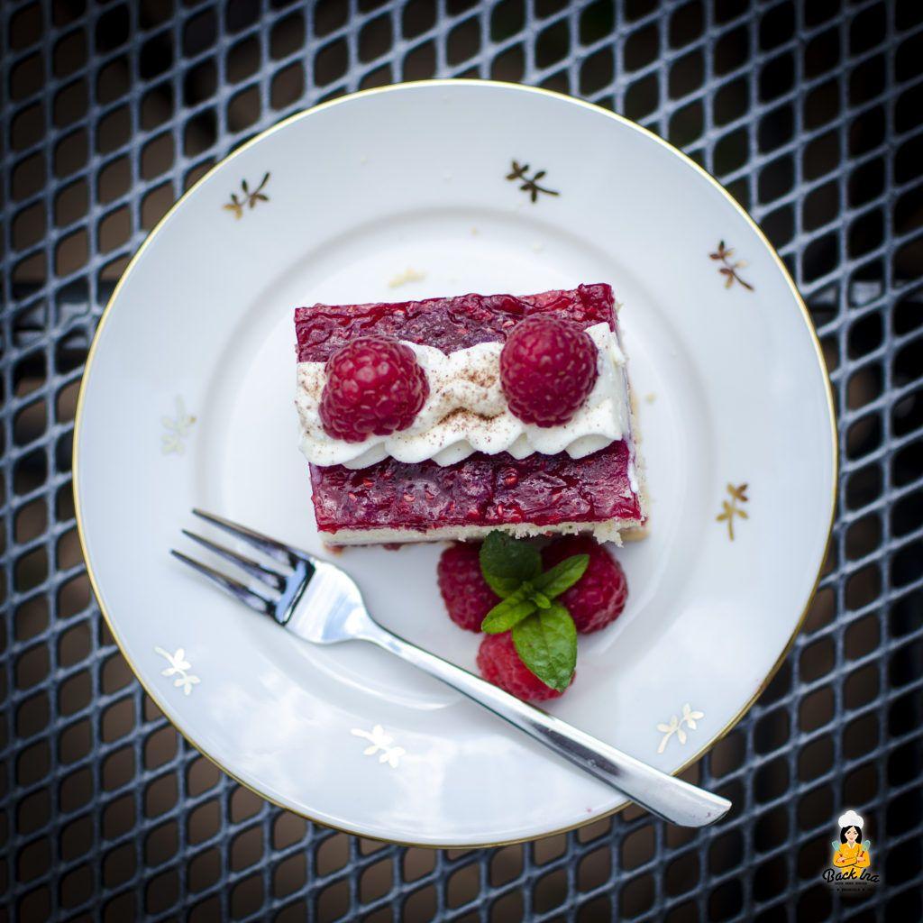 Himbeer Kuchen mal anders: Himbeer Cappuccino Schnitten