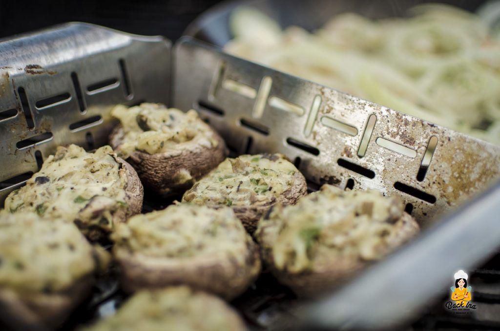 Gefüllte Pilze vom Grill