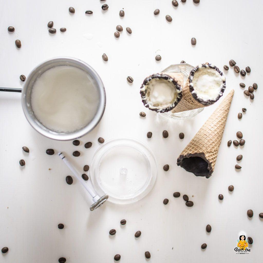 Coffee in a Cone selbstgemacht ohne dass die Waffel schmilzt