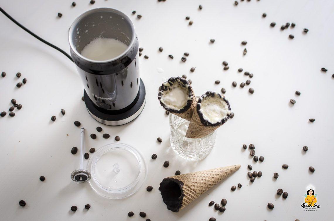 Coffee in a Cone selbstgemacht, Milchaufschäumer im Test und Gewinnspiel (Werbung)