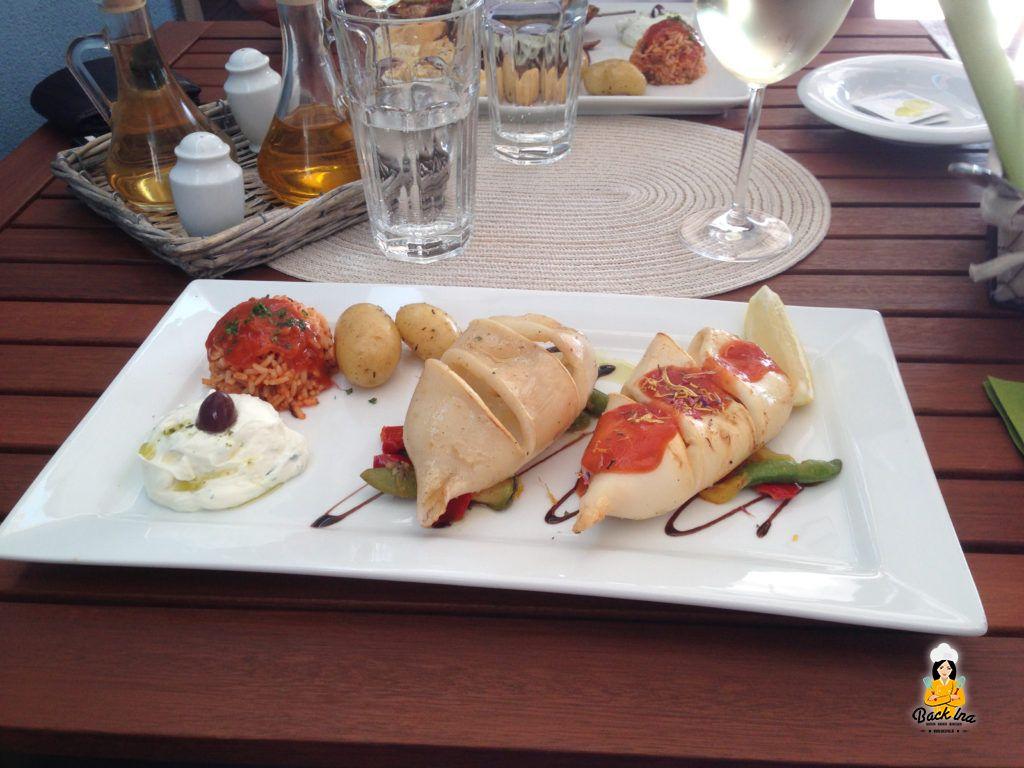 Der beste Grieche Bayreuths: Tintenfisch im Restaurant Papadopoulos