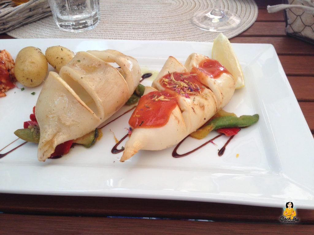 Gegrillter Tintenfisch im Restaurant Papadopoulos