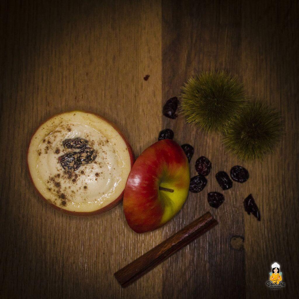 Apfelschaum als schnelles Dessert im Glas