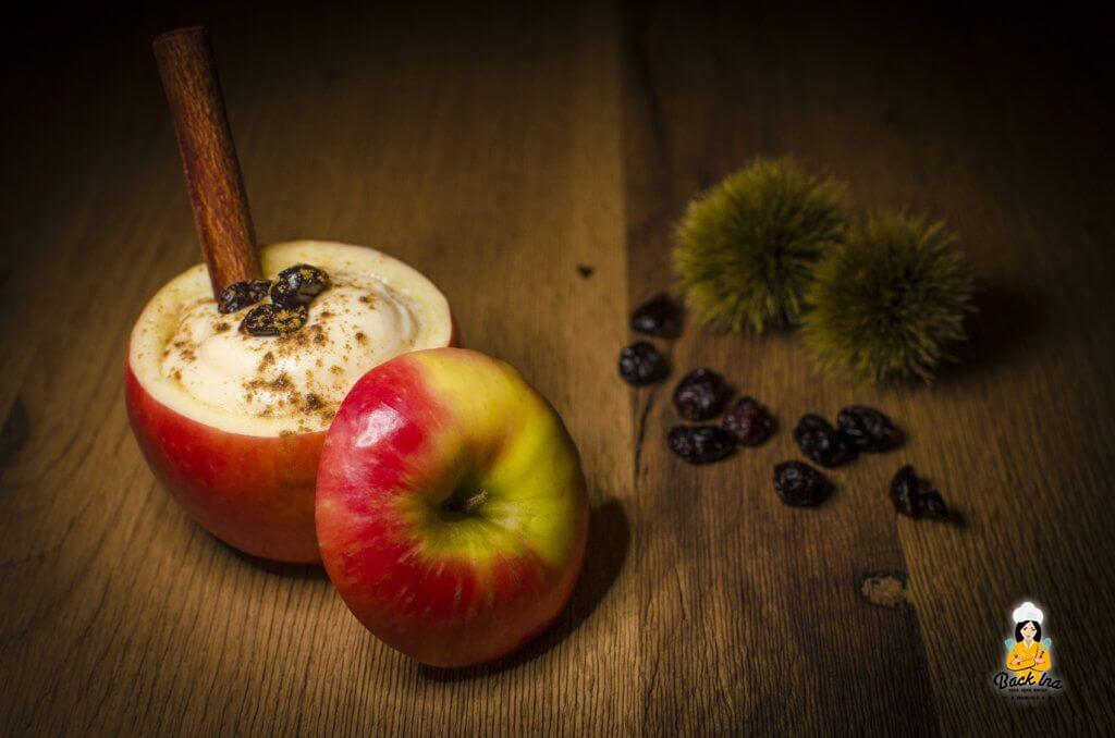 Ein schnelles Apfel Dessert im Glas ist dieser Apfelschaum im Apfel