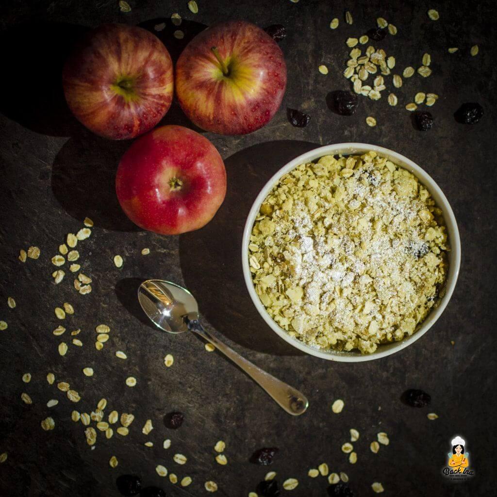 Herbstliches Apple Crumble vom Grill oder aus dem Backofen