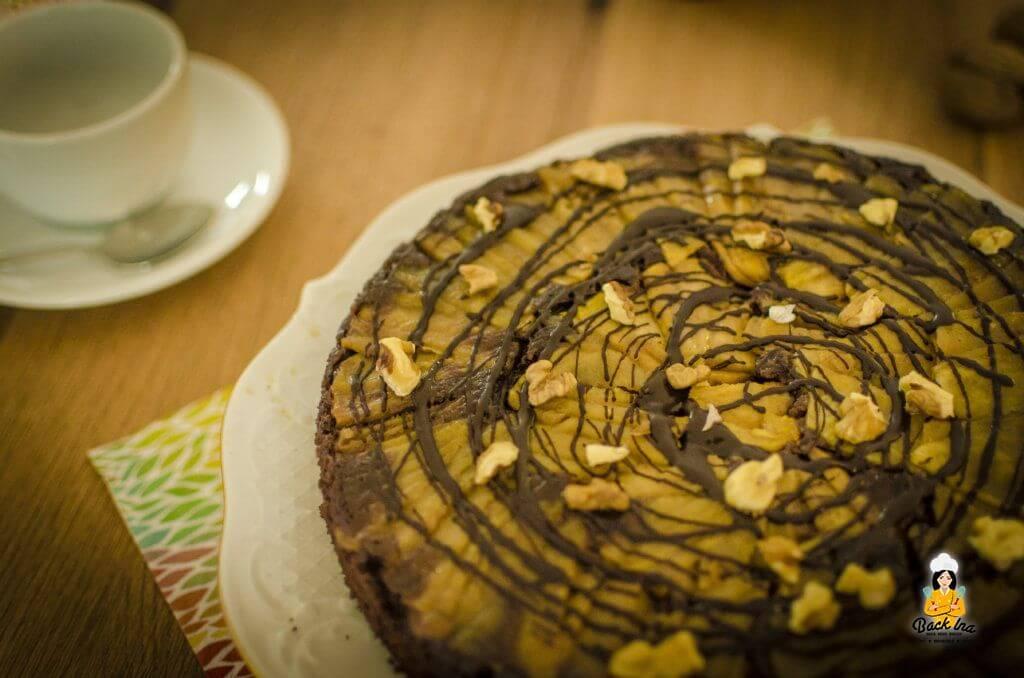 Upside Down Kuchen mit Äpfeln und Schokolade: Herbstlich und saftig