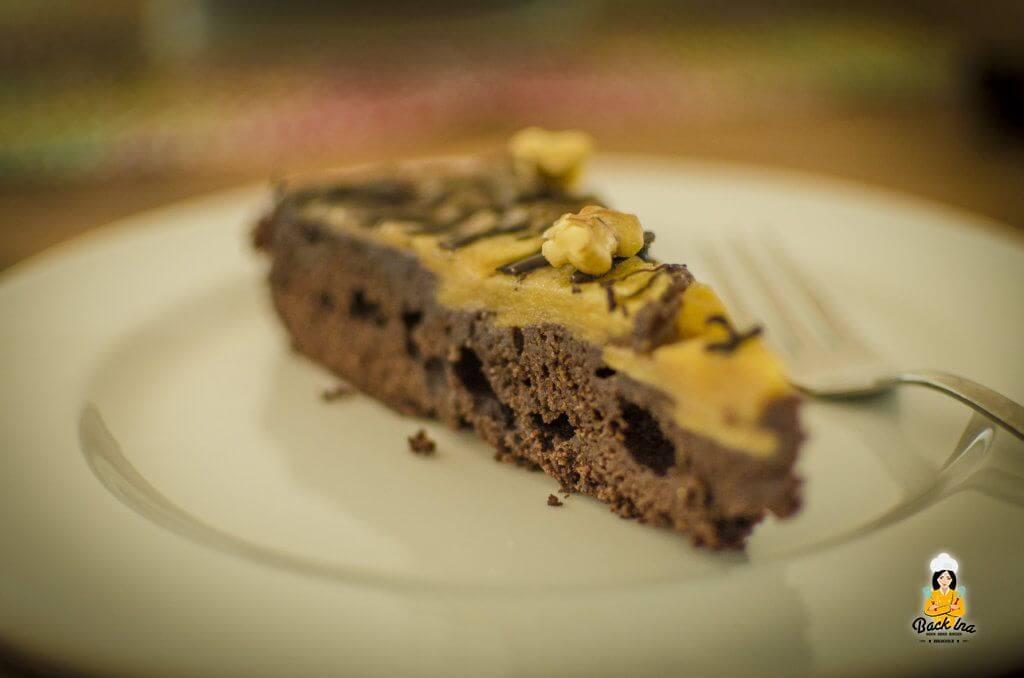 Schokoladiger Apfelkuchen mal andersrum:Upside Down Schoko Apfelkuchen