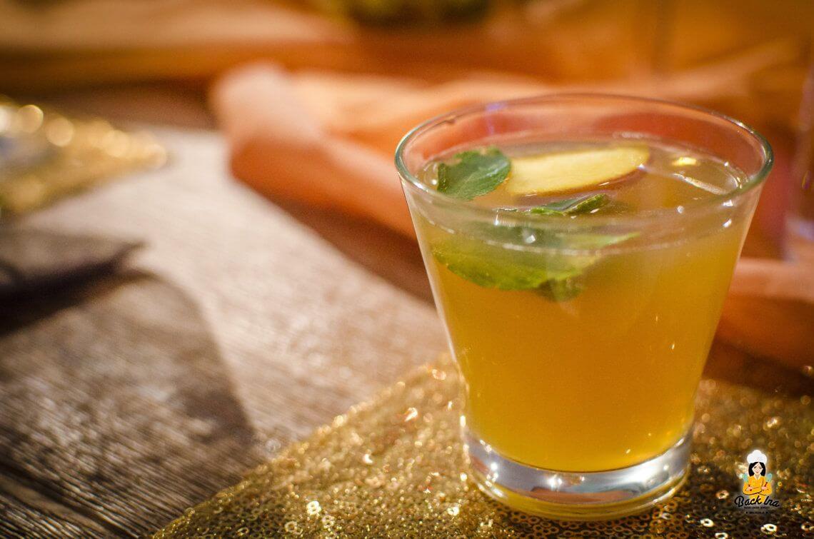 Apfel-Minz-Aperitif für den orientalischen Abend