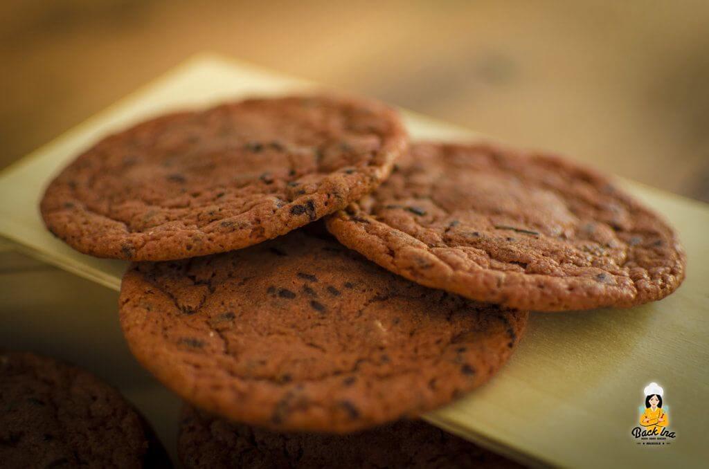 Weiche Chocolate Chip Cookies mit Schokokern