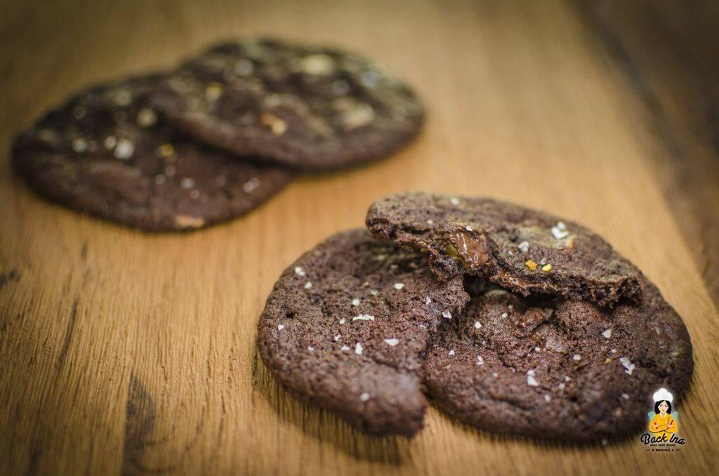 Dieses Rezept ergibt wunderbar saftige Schoko Cookies wie bei Subway
