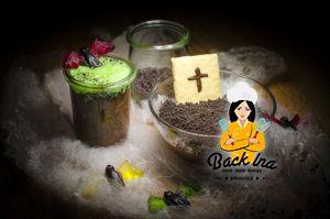 Gruselig zu Halloween: Pudding Gräber und Schimmeliger Pudding