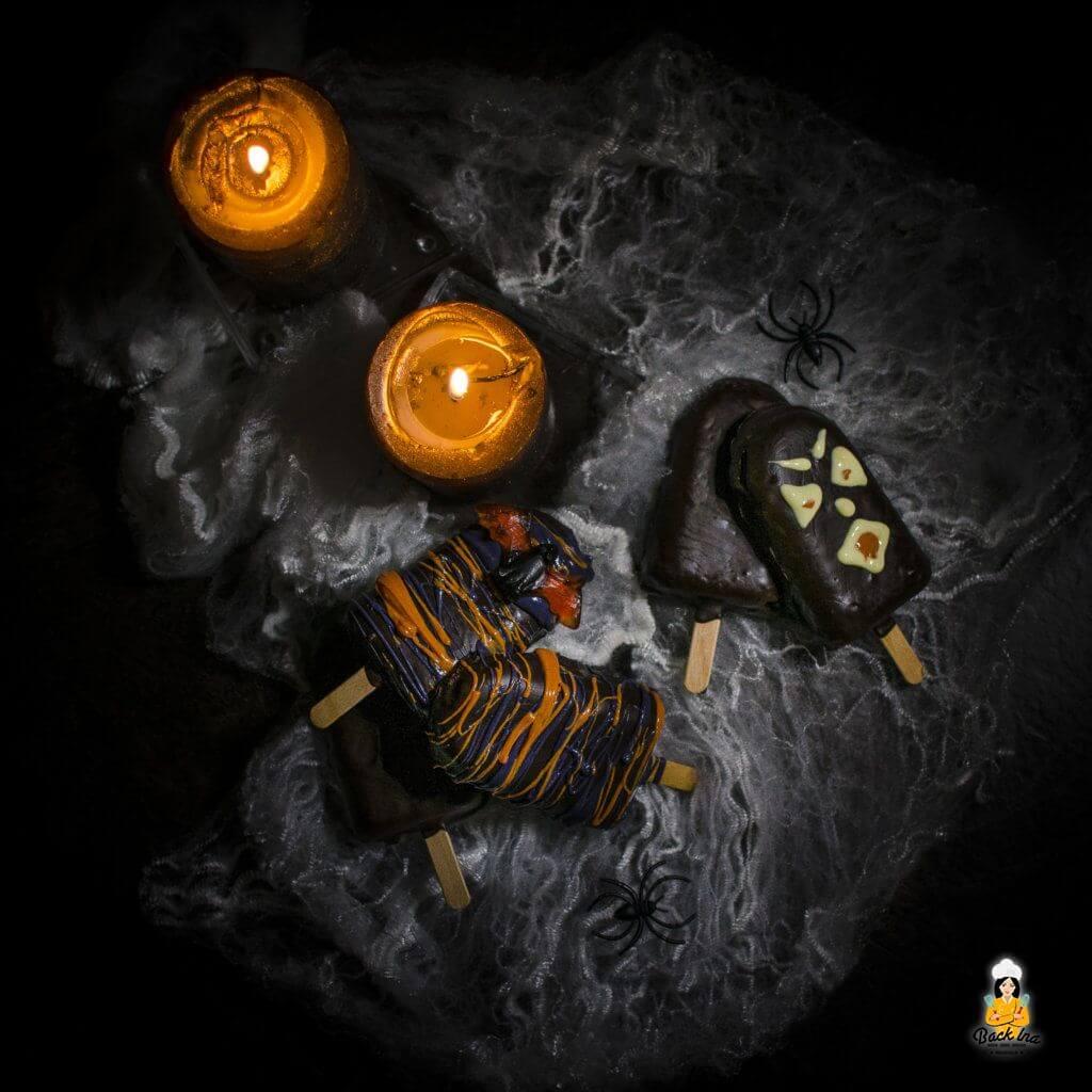 Gruselige Kuchen am Stiel zu Halloween
