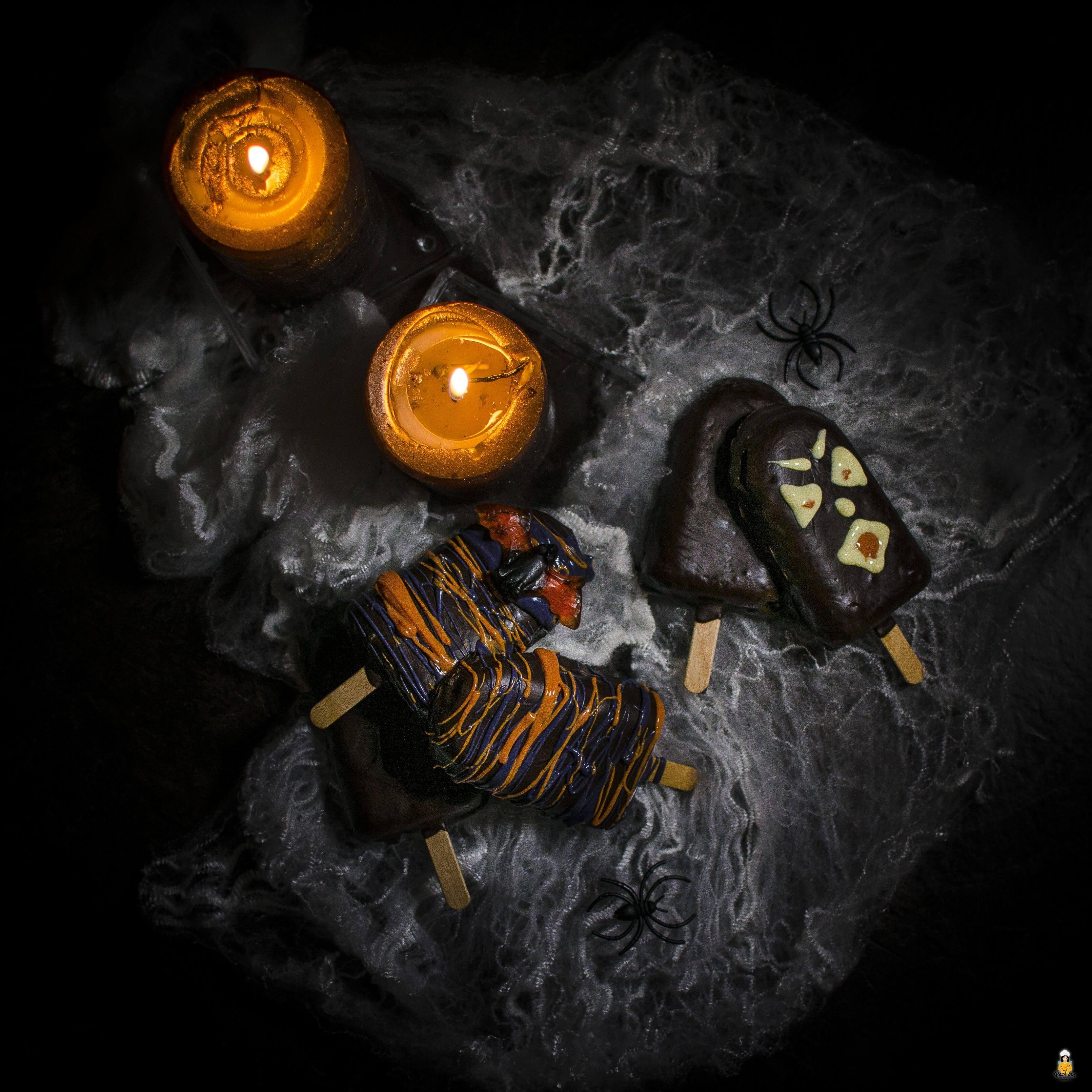 scary kuchen halloween kuchen am stiel backina. Black Bedroom Furniture Sets. Home Design Ideas