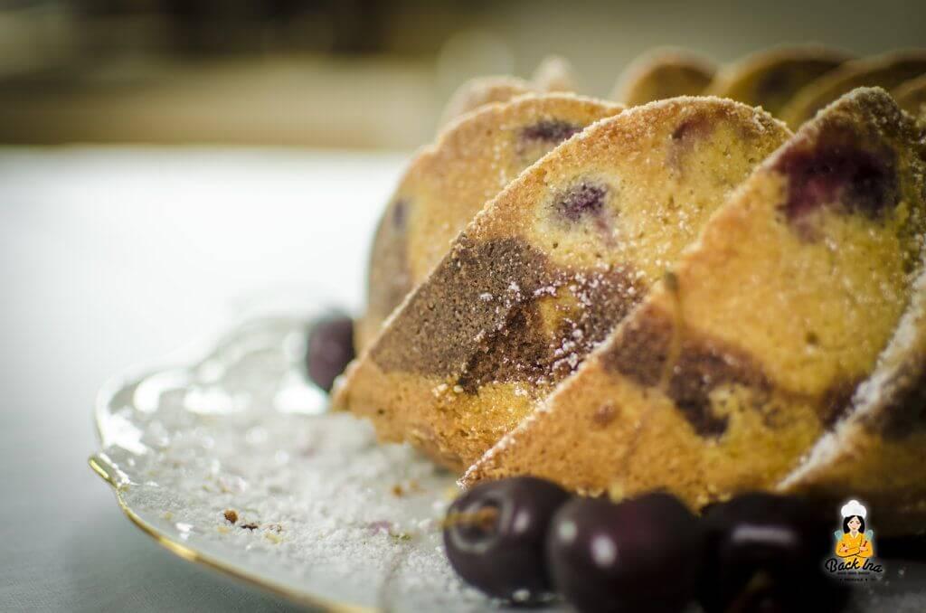 Nutella Marmorkuchen mit Eierlikör und Kirschen: Perfekt für den Herbst