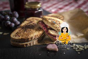 Grilled Cheese Sandwich herbstlich: Mit Pute und Traubenmarmelade