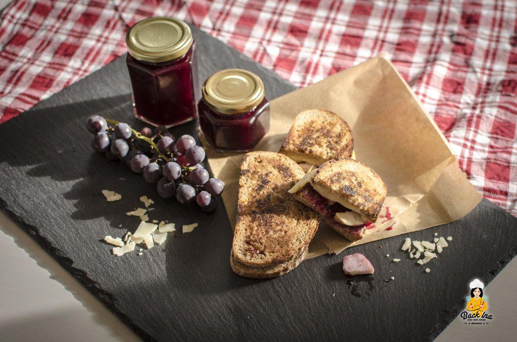 Herbstlich lecker: Grilled Cheese Sandwich mit würziger Traubenmarmelade