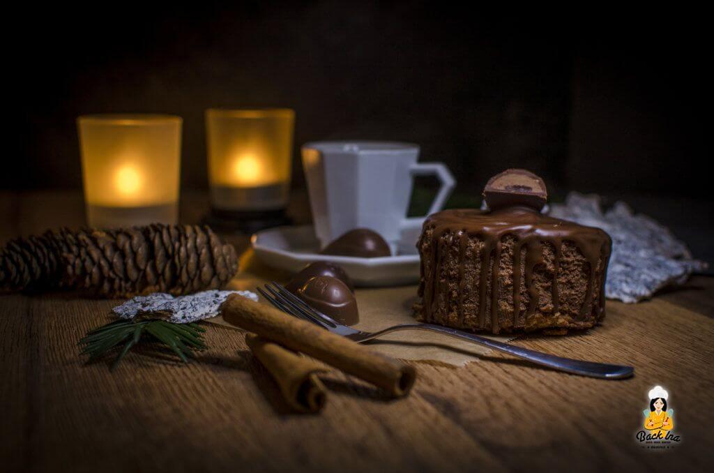 Winterliches Dessert: Mousse au Chocolat Törtchen