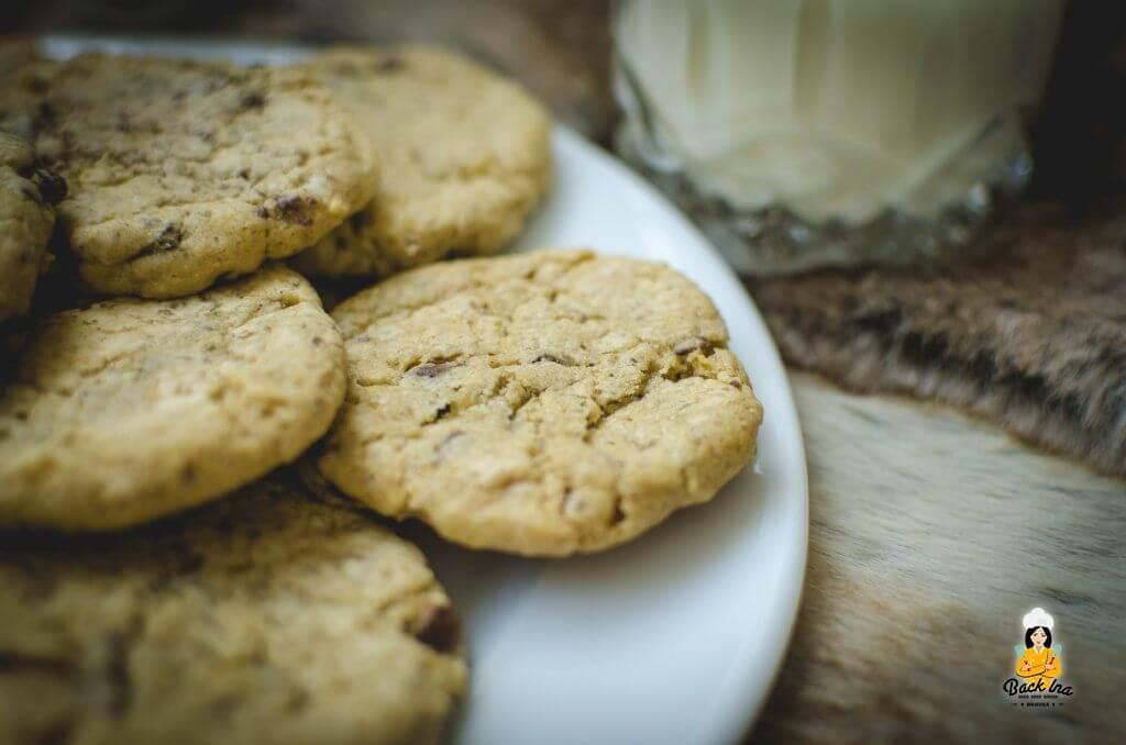 Knusprige Crunchy Chocolate Chip Cookies mit Puddingpulver