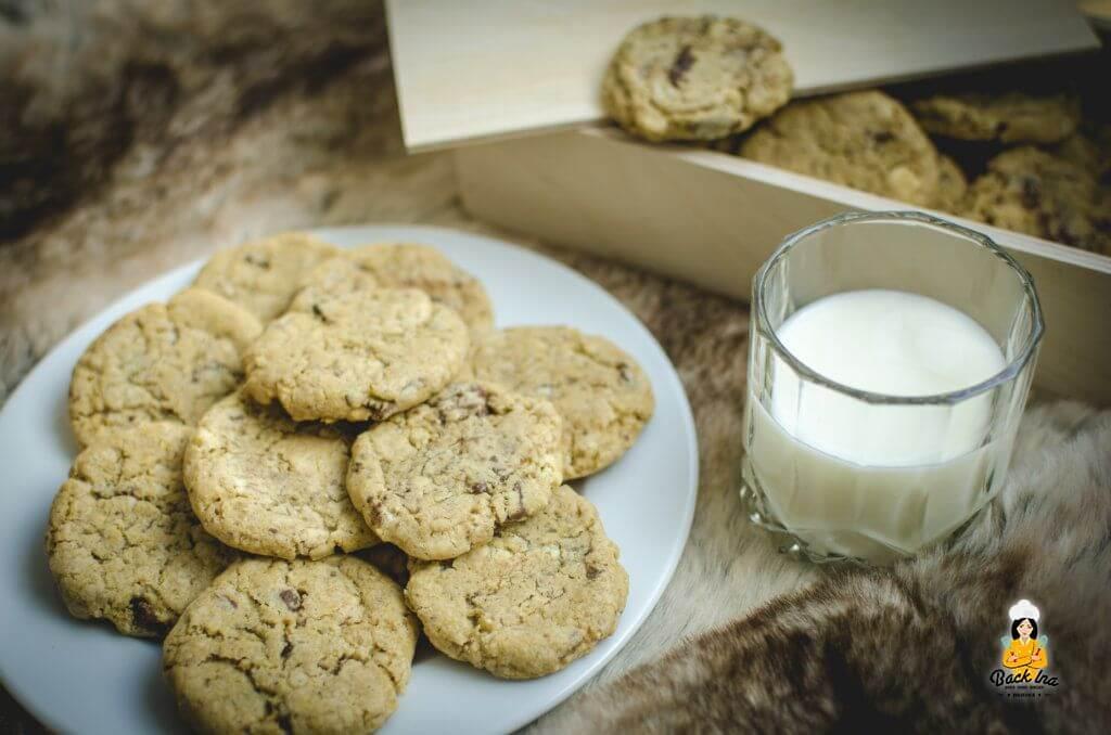 Knusprige Crunchy Chocolate Chip Cookies wie im Supermarkt selbstgemacht