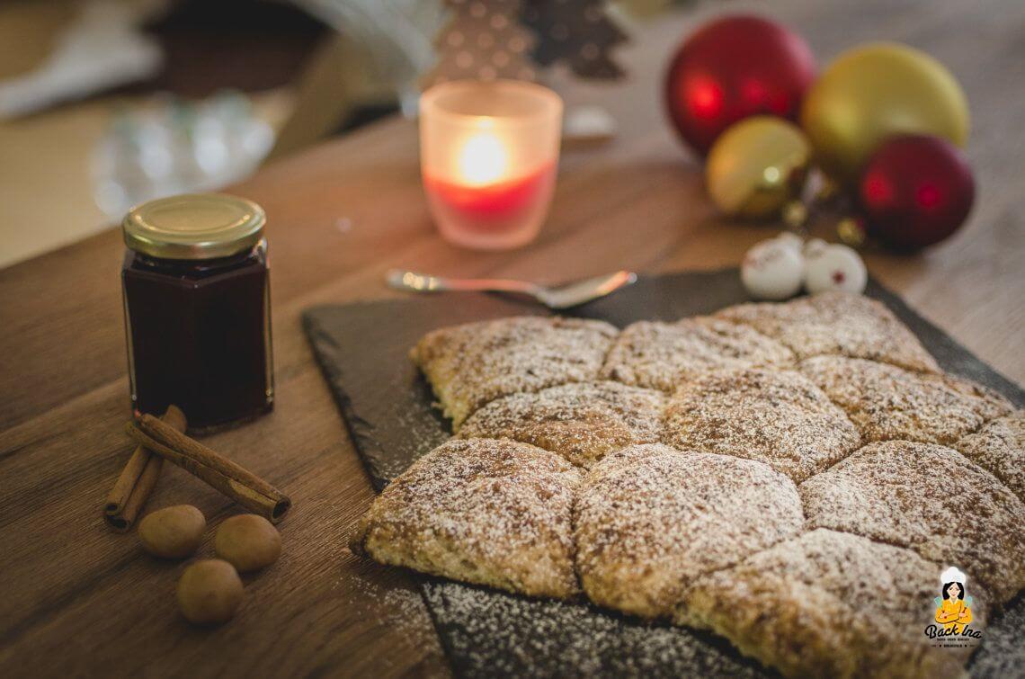 Weihnachtsbrunch (Gefüllter Monkey Bread Stern)