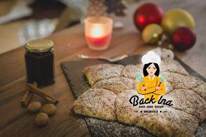 Gefülltes Monkey Bread in Form eines Sterns zu Weihnachten