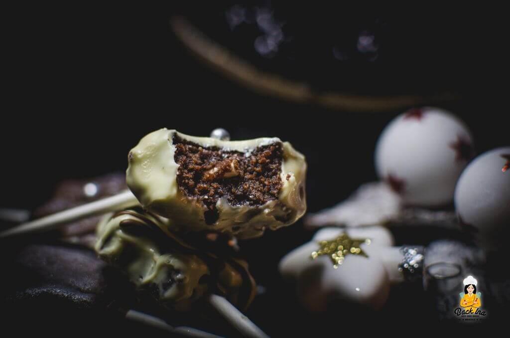 Saftige Weihnachts Cake Pops mit Nougat und Lebkuchengewürz