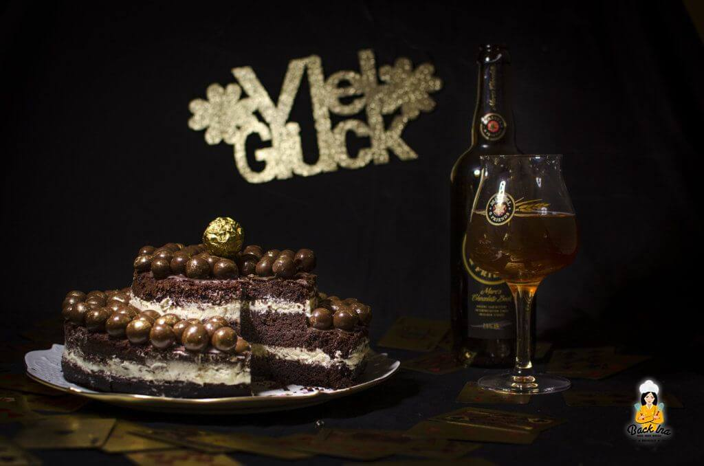 Silvestertorte mit Maisel and Friends Chocolate Bock gebacken