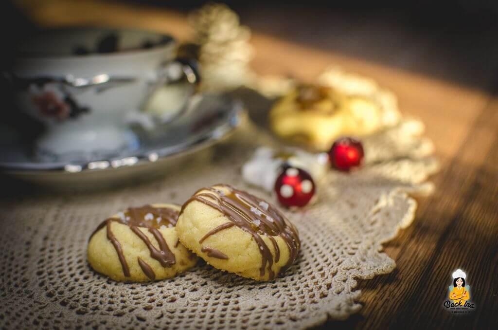 Twix mal anders: Weihnachtsplätzchen - Engelsaugen mit Karamell und Schokolade