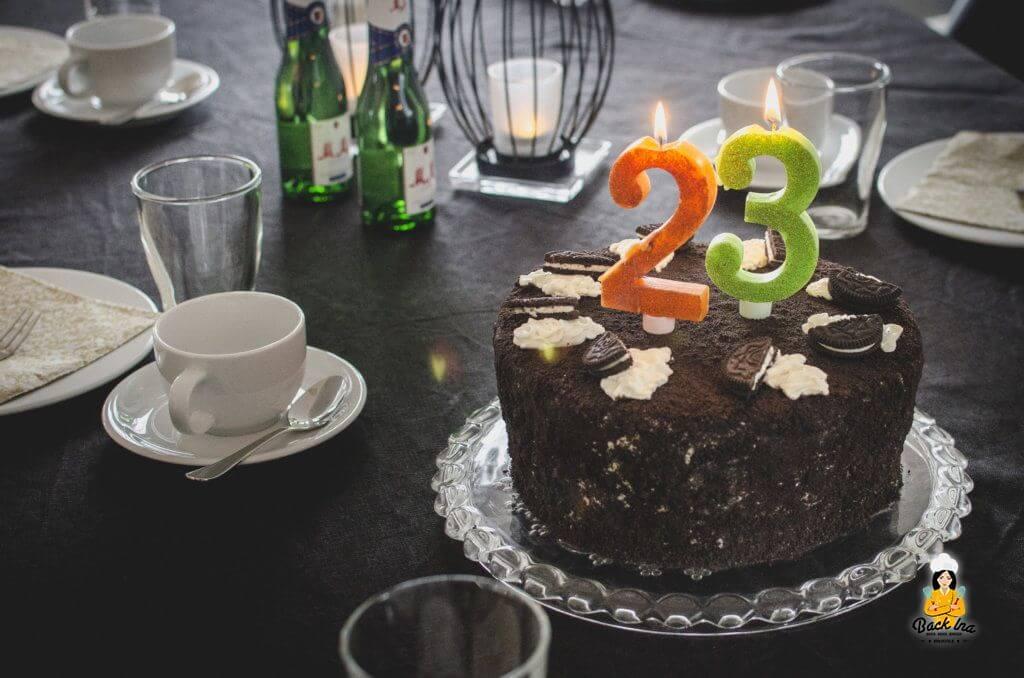 Oreo Torte mit Schokolade und Oreos frei nach Linda Lomelinos Torten