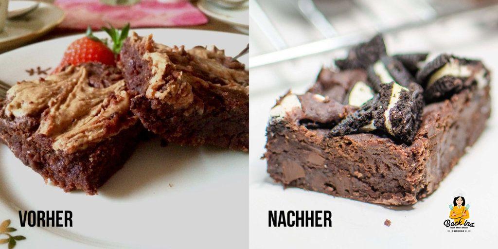 Vegane Bohnen Brownies mit Oreos: So Schokoladig, saftig und lecker!
