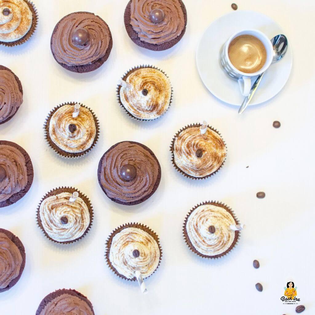 Cupcakes für die Kollegen: Schoko Chili Cupcakes und Latte Macchiato Cupcakes