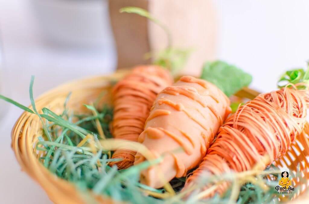 Cakepops zu Ostern in Form von Karotten - niedlich im Osternest und leicht zu machen!