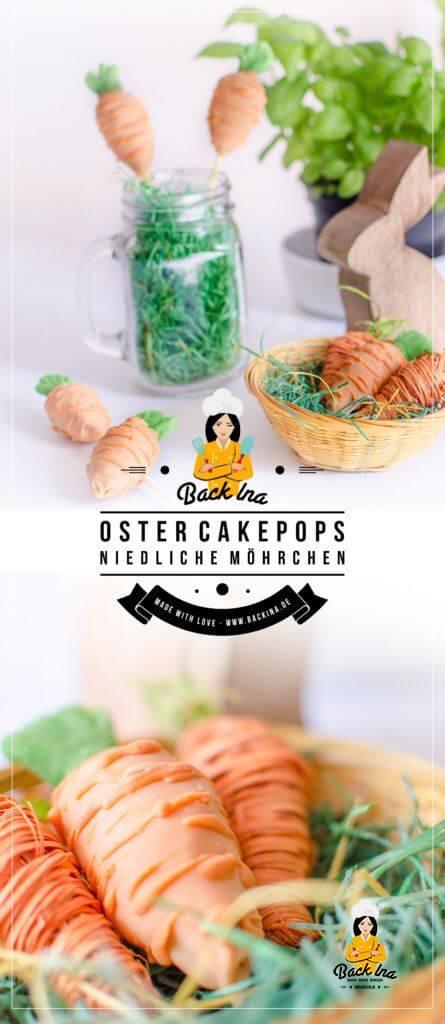 Oster Cakepops in Form von Möhrchen: Eine niedliche Aufmerksamkeit im Osternest | BackIna.de
