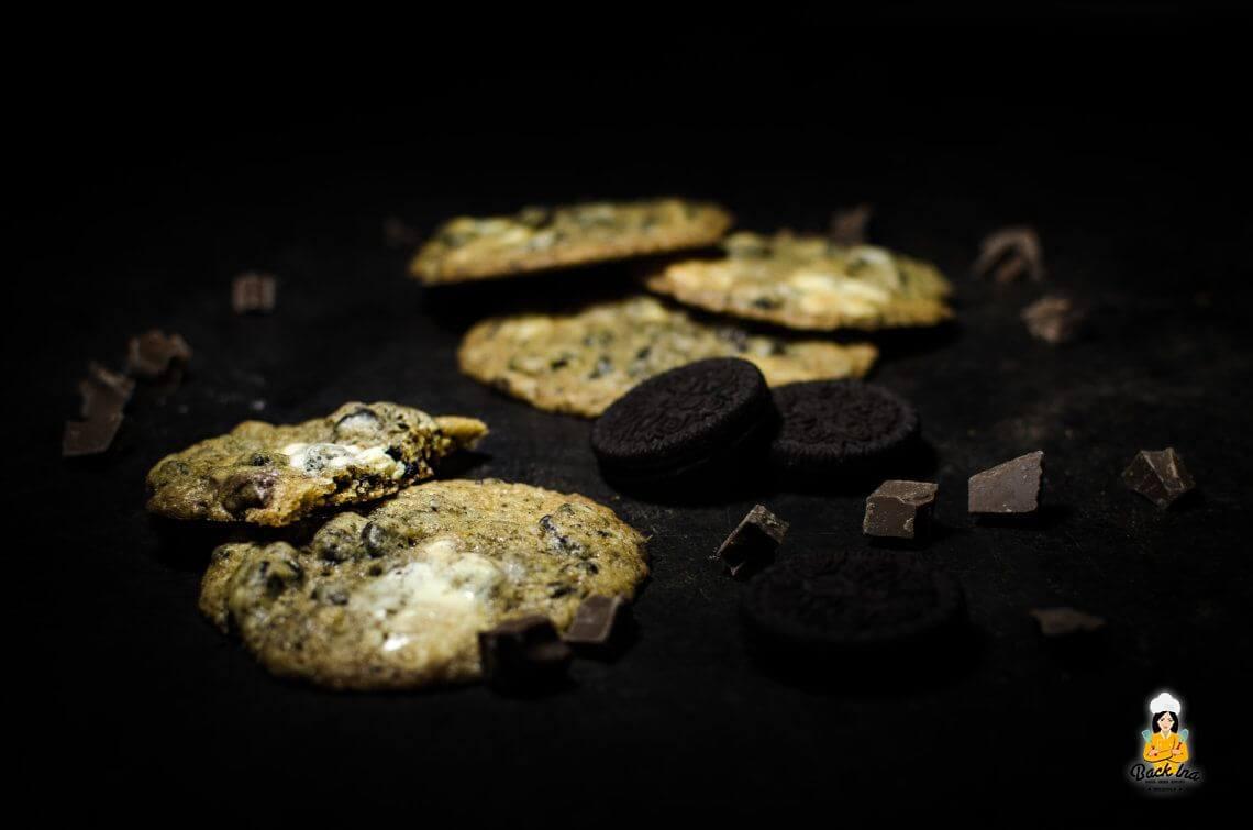 Kekse in Keksen (Cookies 'n' Cream Cookies mit Oreos)