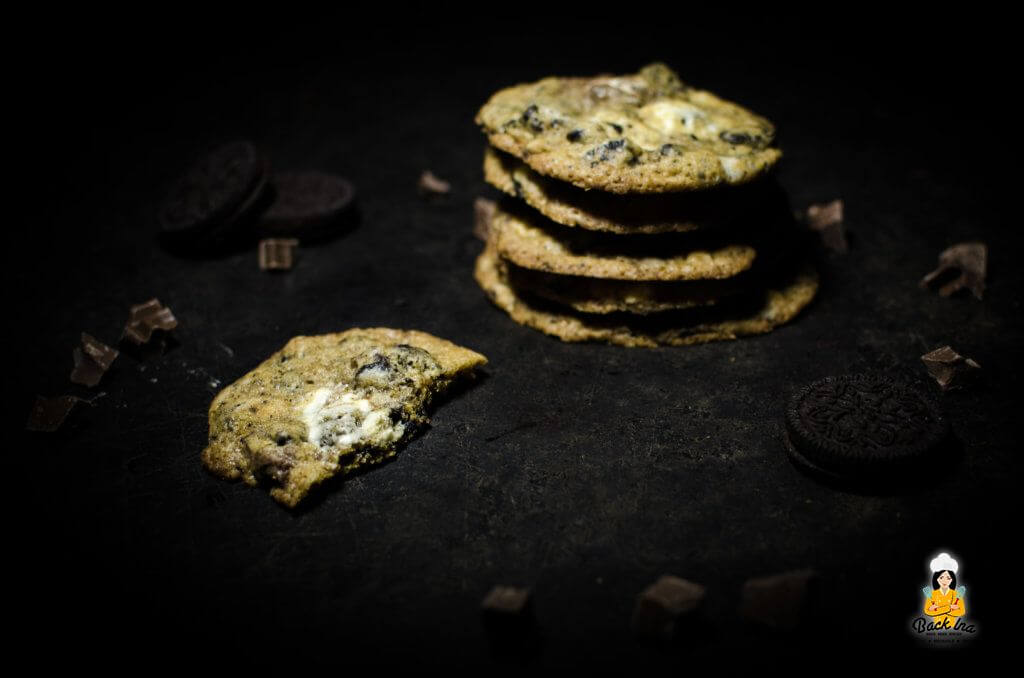 Cookies mit Oreo Stücken und weißer Schokolade