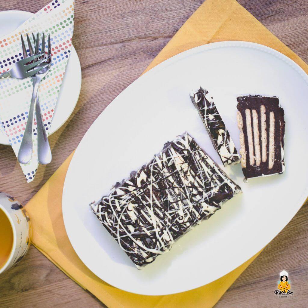 Kalter Hund ist das Dessert aus den 1960er Jahren: Schokolade und Butterkeks werden zu einem sündhaft leckeren Kuchen