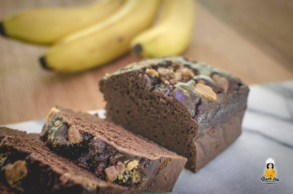 Schnelles veganes Frühstück ohne Fett und Zucker: Schokoladen Bananenbrot