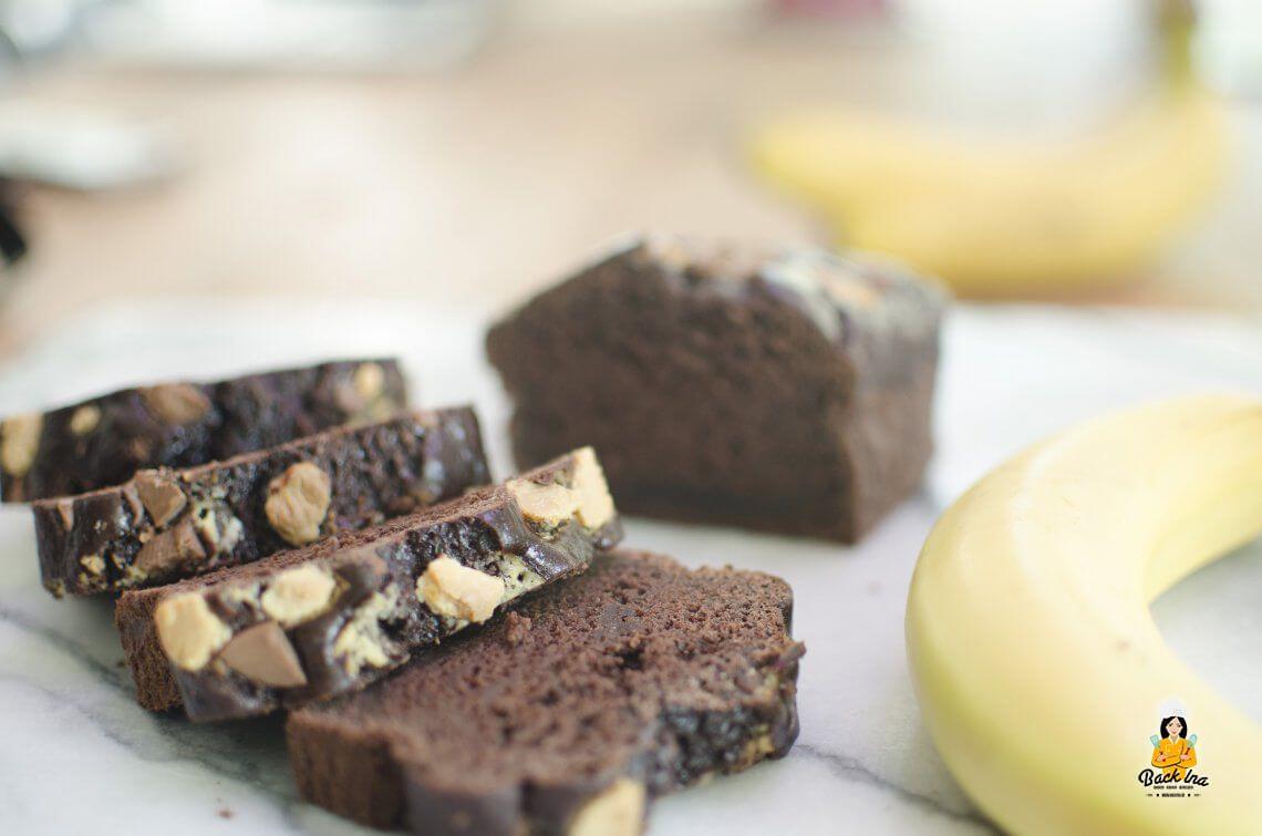 Ein neuer Liebling (Schoko Bananenbrot ohne Zucker und Fett, vegan)
