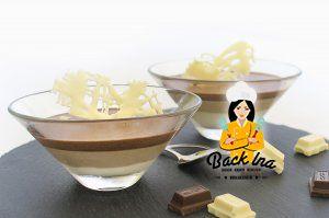 Dreierlei Mousse au Chocolat im Glas - kein rohes Ei, dafür Gelatine