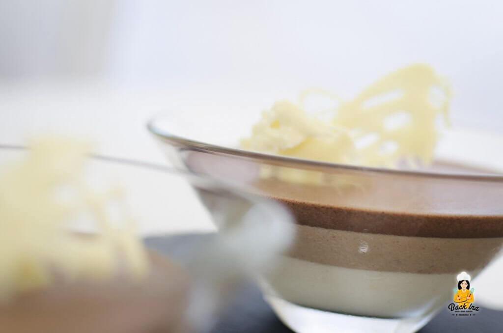 Dreierlei Gestreiftes Mousse Au Chocolat Im Glas Backinade