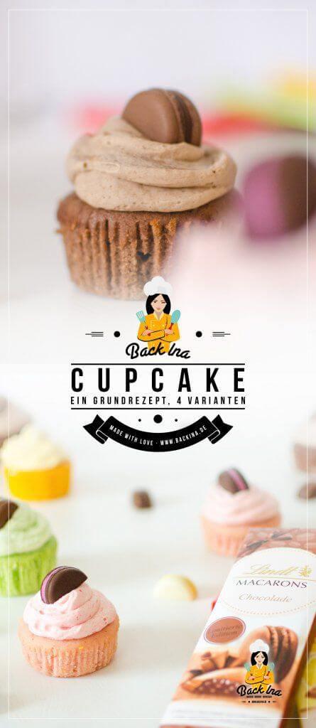 Ein einfaches Grundrezept für Cupcakes - unendlich viele Varianten: Hier lernst du, wie du leckere Cupcakes einfach und schnell zauberst - plus Variante für Schoko Cupcakes, Zitronen Cupcakes, Erdbeer Cupcakes und Pistazien Cupcakes | BackIna.de