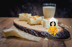 """Cremiger Käsekuchen mit Mandarinen, auch genannt """"Faule Weiber Kuchen"""""""