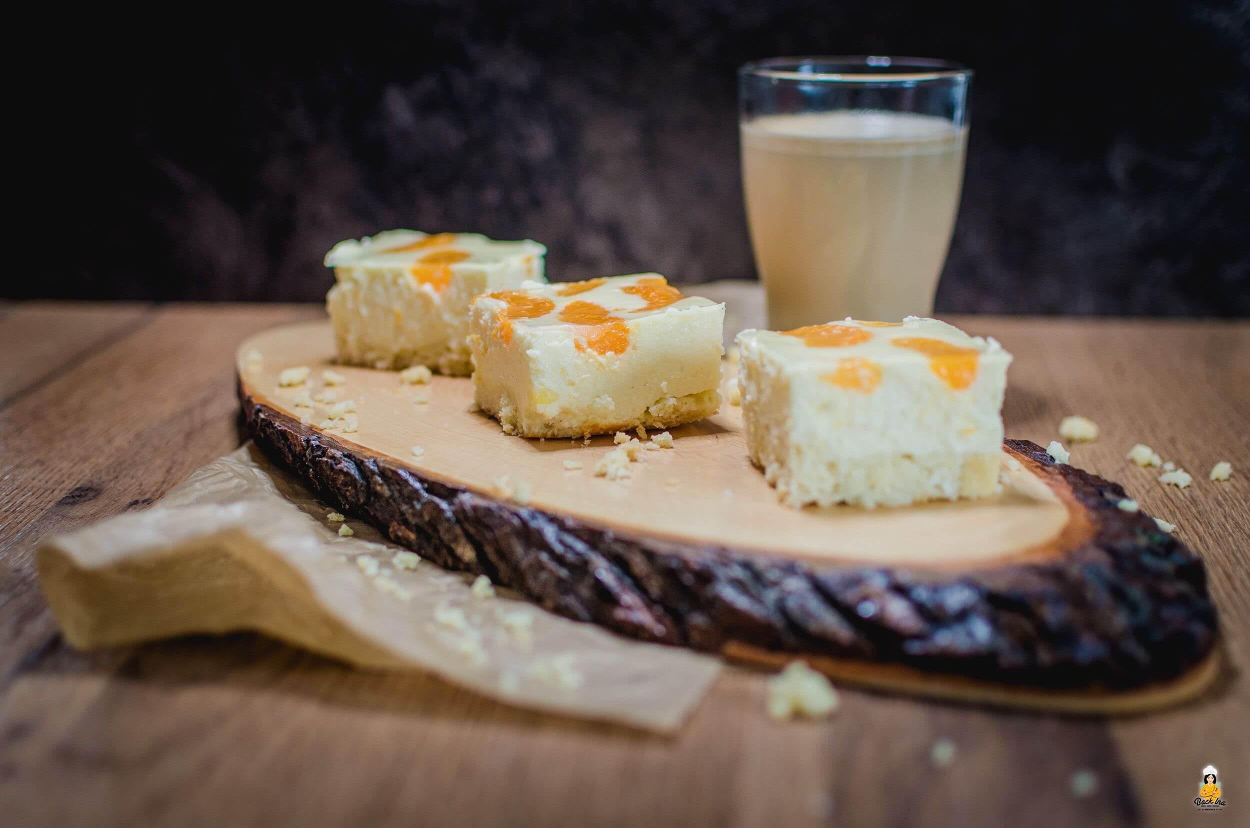 Käsekuchen mit Mandarinen: Faule Weiber Kuchen | BackIna.de
