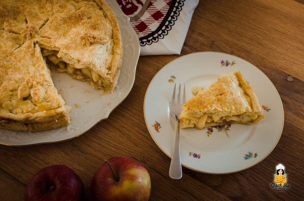 Amerikanischer Apfelkuchen: Zarter Teig, stückige Füllung, viel Geschmack!