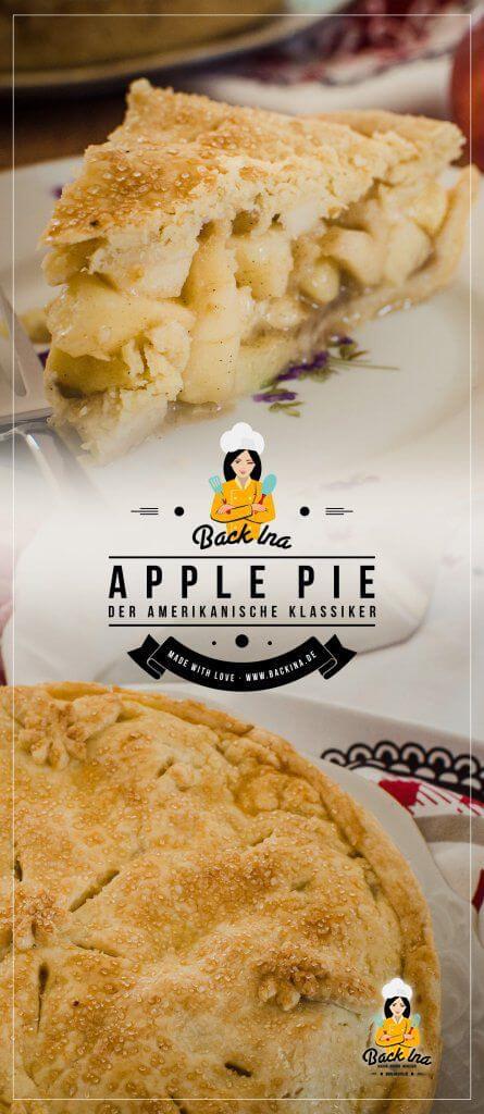 So schmeckt der Herbst: Ein klassischer Apple Pie nach amerikanischer Art ist leicht zu machen und unvergleichlich lecker. Erfahre, wie du die zarte Kruste und die saftige Füllung des Apfelkuchens selber machen kannst! | BackIna.de