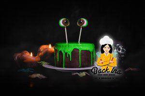 Einfache Halloween Torte: Schleim Torte
