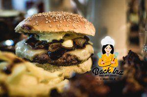 American BBQ mit Burgern zu Hause